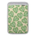 Leaf Pattern, Monstera Leaves on Cream Color. MacBook Air Sleeves