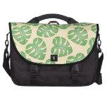 Leaf Pattern, Monstera Leaves on Cream Color. Laptop Commuter Bag