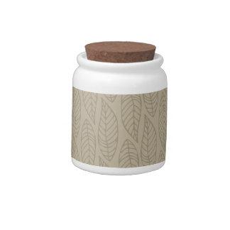 Leaf Pattern No.1 - Colour Beige Candy Jars