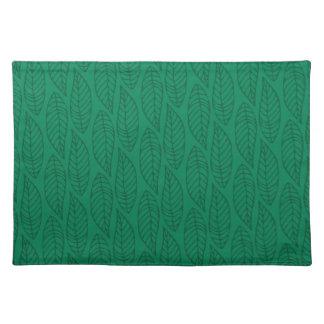 Leaf Pattern No.1 - Colour green Placemat