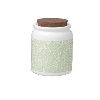Leaf Pattern No.1 - Colour Mint Candy Jar