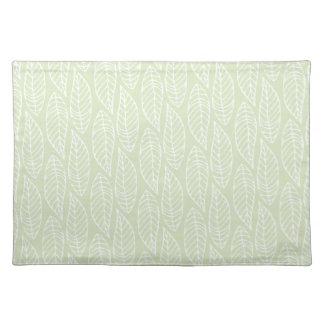 Leaf Pattern No.1 - Colour Mint Cloth Placemat
