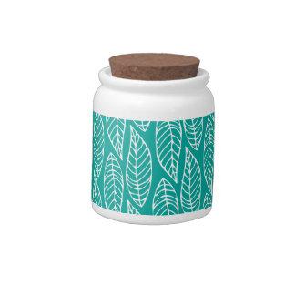 Leaf Pattern No.1 - Colour Ocean Candy Jars