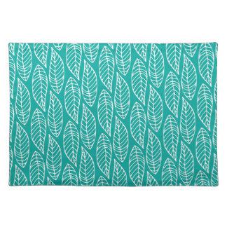 Leaf Pattern No.1 - Colour Ocean Cloth Placemat