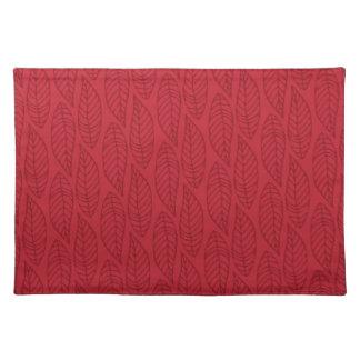 Leaf Pattern No.1 - Colour Ruby Placemat