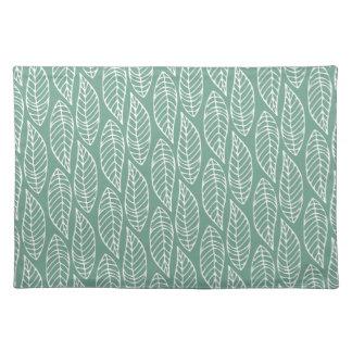 Leaf Pattern No.1 - Colour Sage Cloth Placemat