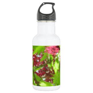 Leaf Pattern Stainless Steel Water Bottle