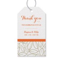 Leaf Pattern Thank You Wedding Gift Tag