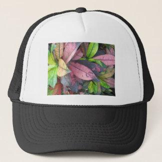 Leaf Pattern Trucker Hat
