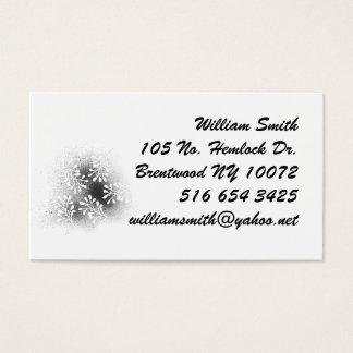 Leaf print business card