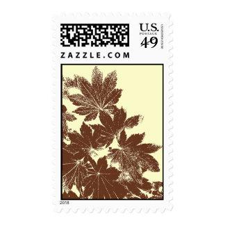Leaf Print Postage Stamp
