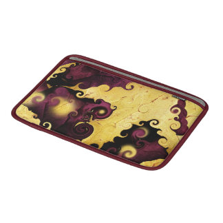 Leaf Purple and Gold Abstract MacBook Air Sleeve