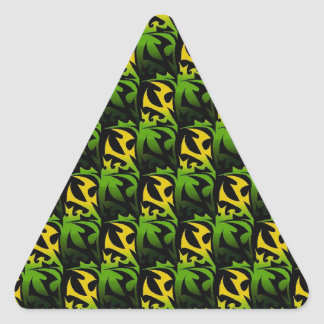 Leaf Shadow Triangle Sticker
