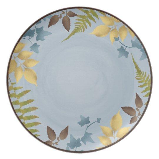 Leaf Silhouette Melamine Plate