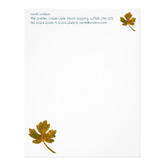 Leaf Simple Stationery Custom Letterhead