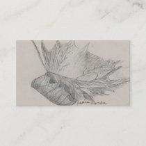 Leaf sketch business card