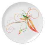 Leaf Splatter Plate