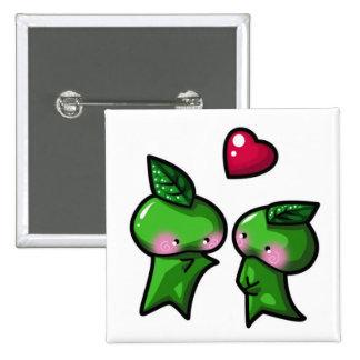 Leaf Sprite 2 Inch Square Button