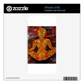 Leaf Sprite Meditating iPhone 4S Skin
