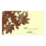 Leaf Stamp Wedding Place Card Business Card Templates