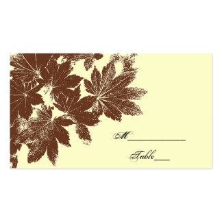 Leaf Stamp Wedding Place Card Double-Sided Standard Business Cards (Pack Of 100)