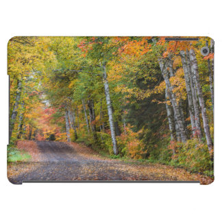 Leaf Strewn Gravel Road With Autumn Color iPad Air Cover