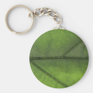 Leaf Structure Macro Photography Basic Round Button Keychain