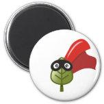 Leaf Superhero 2 Inch Round Magnet