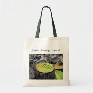 Leaf Texture and Water Droplet; YT, Canada Tote Bag