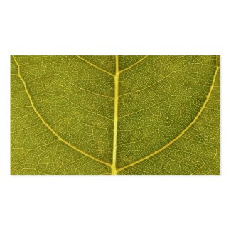 leaf texture business card templates