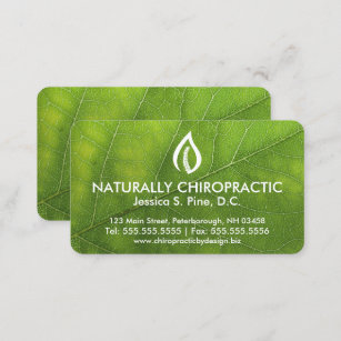 Leaf texture business cards zazzle leaf texturelogo chiropractic business cards colourmoves