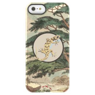 Leaf-Toed Gecko In Natural Habitat Illustration Uncommon Permafrost® Deflector iPhone 5 Case