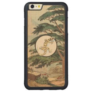 Leaf-Toed Gecko In Natural Habitat Illustration Carved® Maple iPhone 6 Plus Bumper Case