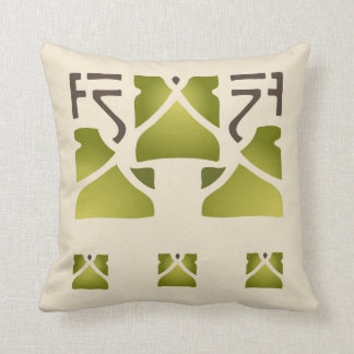 Leaf Trio Stencil Throw Pillow