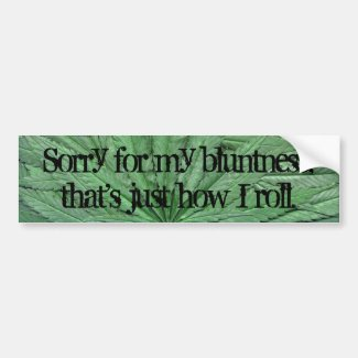 Marijuana Leaf Bumper Sticker - Legal Cannabis Day