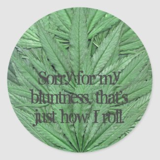 Marijuana Leaf Stickers - Legal Cannabis Day