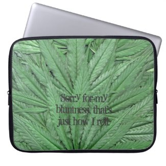 Marijuana Leaf Computer Sleeve - Legal Cannabis Day