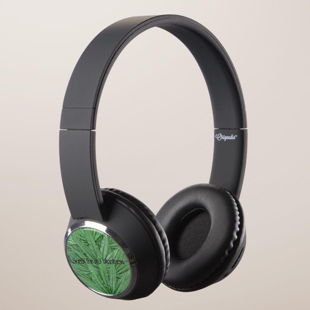 Marijuana Leaf Headphones - Legal Cannabis Day