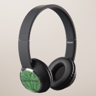 Marijuana Leaf Headphones - Legal Cannabis Day