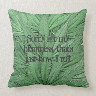 Marijuana Leaf Pillow - Legal Cannabis Day