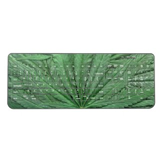Marijuana Leaf Keyboard - Legal Cannabis Day