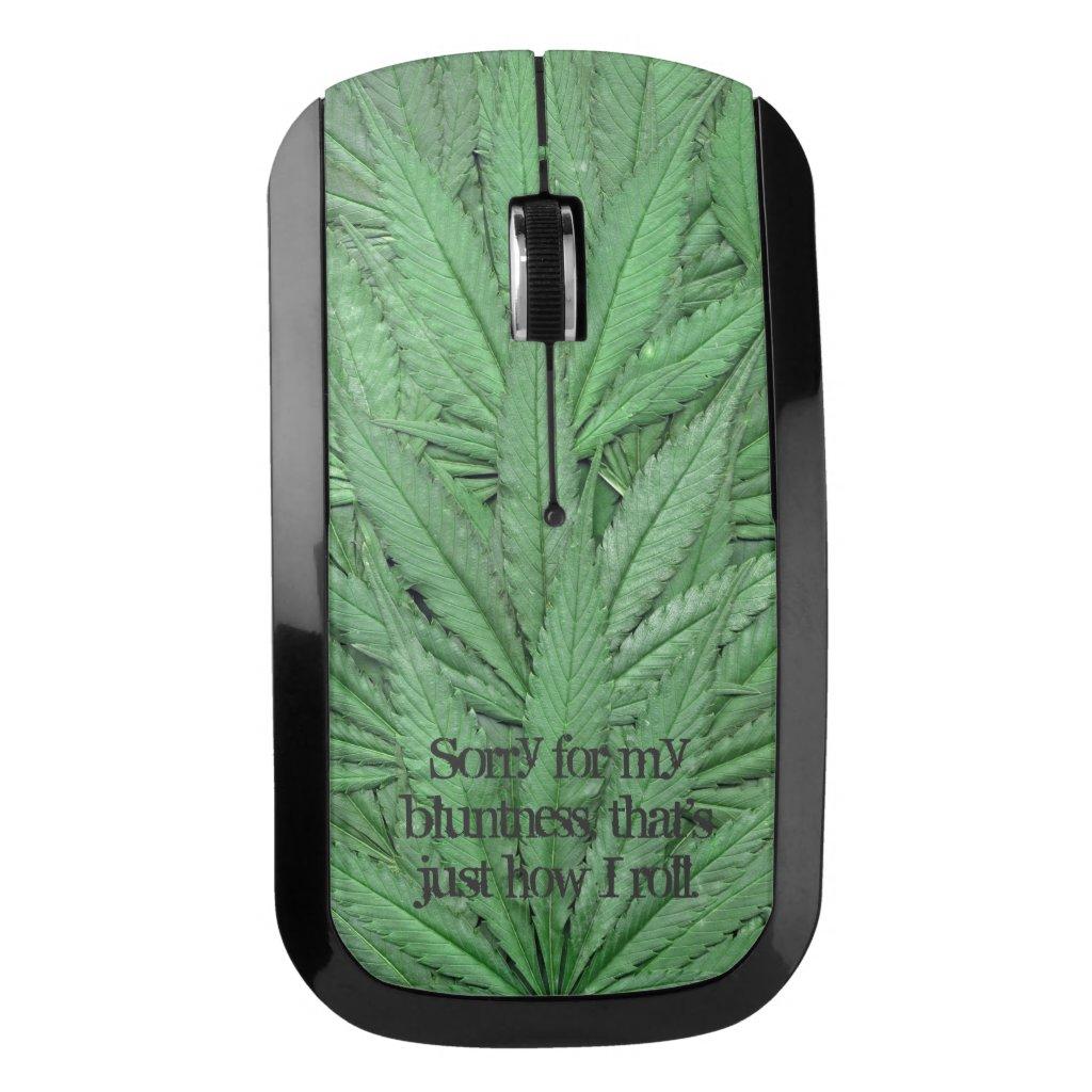 Marijuana Leaf Computer Mouse - Legal Cannabis Day