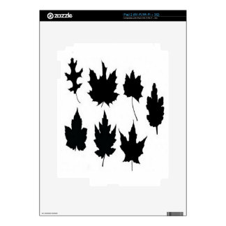 Leaf vectors design decal for the iPad 2