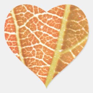 Leaf Veins Heart Sticker