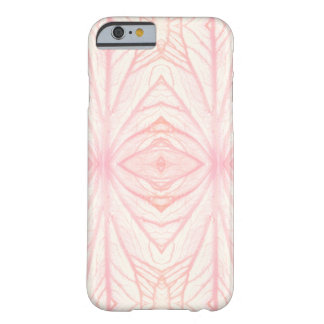 Leaf veins kaleidoscope pattern | Roze | Barely There iPhone 6 Case
