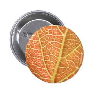 Leaf Veins Pinback Button