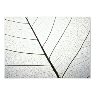 Leaf veins texture personalized invitation