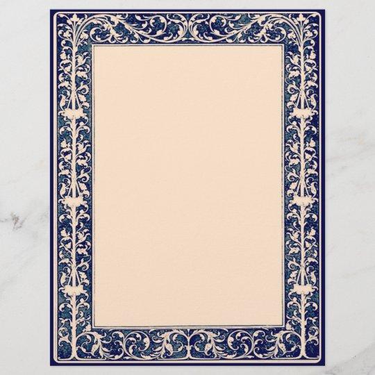 Leaf Vine Border Scrapbook Craft Paper Cream Zazzle Com