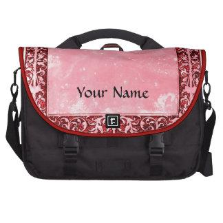 Leaf & Vine Frame Girly pastel pink chalk scrapboo Bags For Laptop