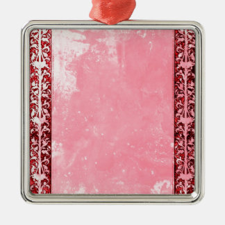 Leaf Vine Frame Girly pastel pink chalk scrapboo Ornament